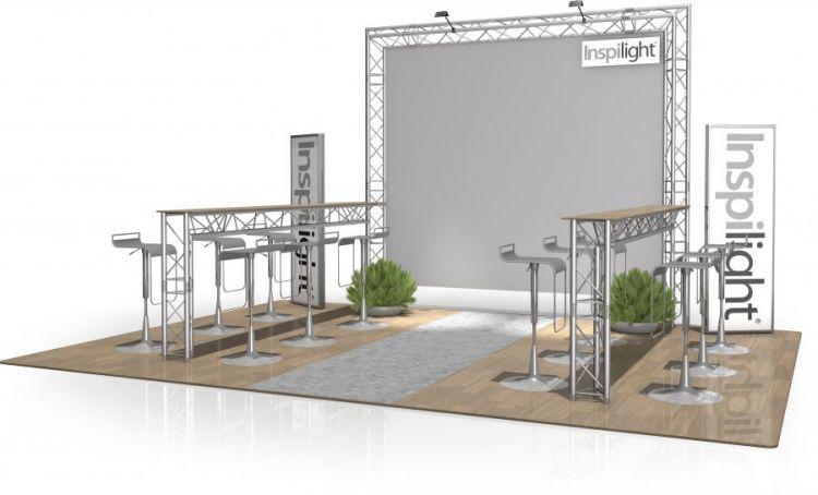 Messestand FD 23 - 3 x 3 x 2,65 m (LxBxH) - 9 m²