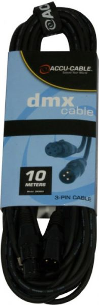 DMX Kabel 3pin, 10m, 110 Ohm, AC3PDMX30