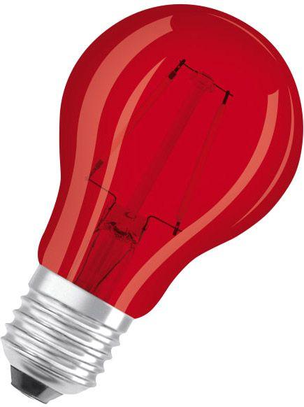 Osram LED STAR DECO CLASSIC A 15 300° 1.6 W/3000 K E27 Rot