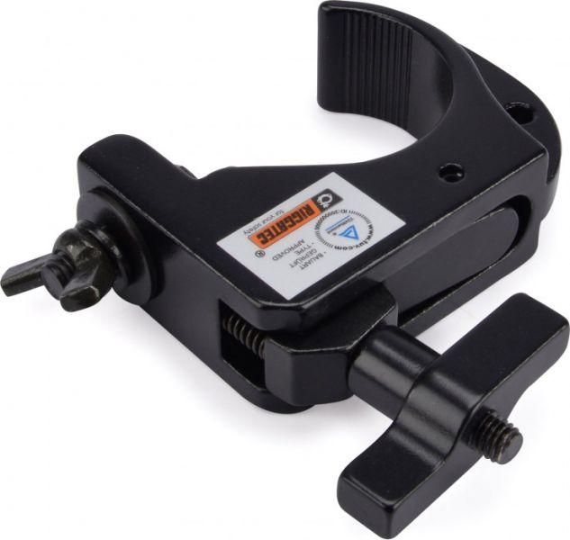 Riggatec Smart Hook Slim Clamp Mini Schwarz bis 75kg (32 - 35mm)