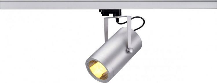SLV EURO SPOT E27 ELT, mit 3-Phasen Adapter, silbergrau -Demoware-