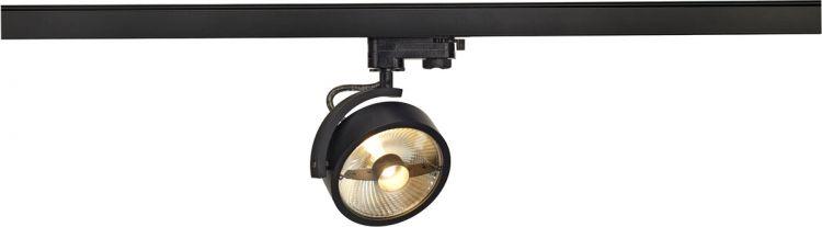 SLV KALU TRACK QPAR111 Leuchten- kopf, schwarz, inkl. 3P.-Adapter