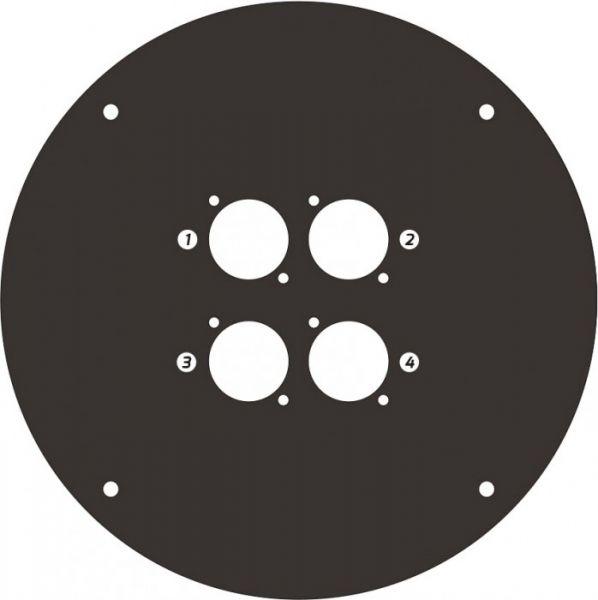 Adam Hall Cables 70225 D 4 Frontplatte für Kabeltrommel 70225 mit 4 x D-Ty