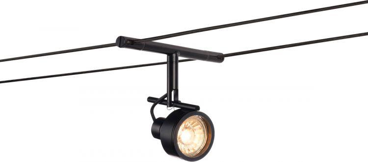 SLV SALUNA Seilleuchte für TENSEO Niedervolt-Seilsystem, QR-C51, schwarz