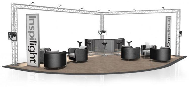 Messestand FD 24 - 8 x 6 x 3 m (LxBxH) - 48 m²