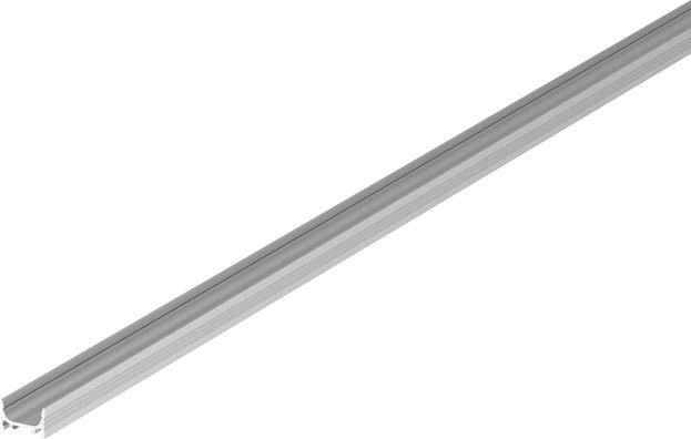 SLV GRAZIA 10, Aufbauprofil, LED, flach, gerillt, 2m, aluminium