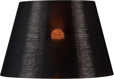 SLV FENDA Leuchtenschirm, konisch, schwarz/kupfer, Ø/H 30/20 cm