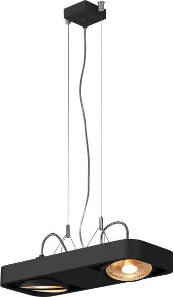 SLV AIXLIGHT R2 DUO Pendelleuchte, QR111, schwarz, 2x75W max.