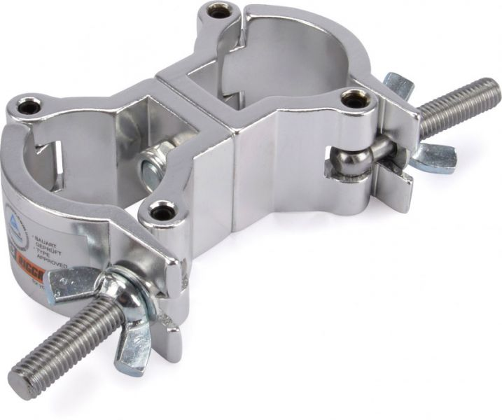 AlphaPlan-Artikel: Riggatec Doppelschelle - Swivel Coupler leicht silber bis 50 kg (32-35 mm)