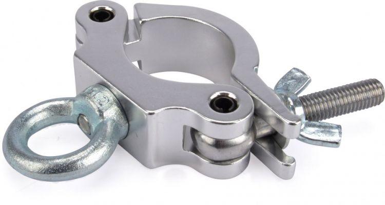 Riggatec Halbschelle-Halfcoupler schmal silber mit Öse 170 kg (48-51mm)