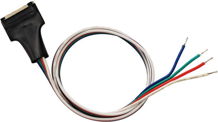 SLV LED Strip Einspeiser 15mm,RGB, mit 50cm Kabel, 1 Stück