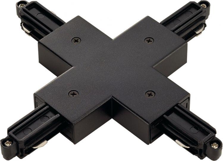 SLV X-Verbinder für 1-Phasen HV-Stromschiene, Aufbauversion schwarz