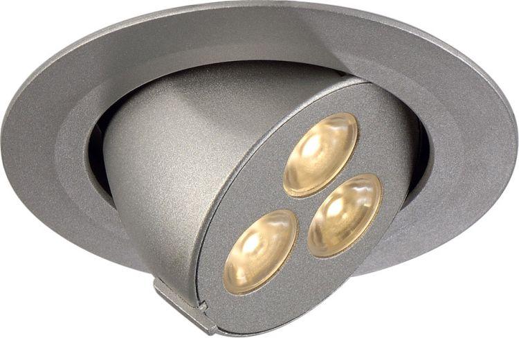AlphaPlan-Artikel: SLV TRITON GIMBLE LED 3x1W, silber eloxiert, LED warmweiss