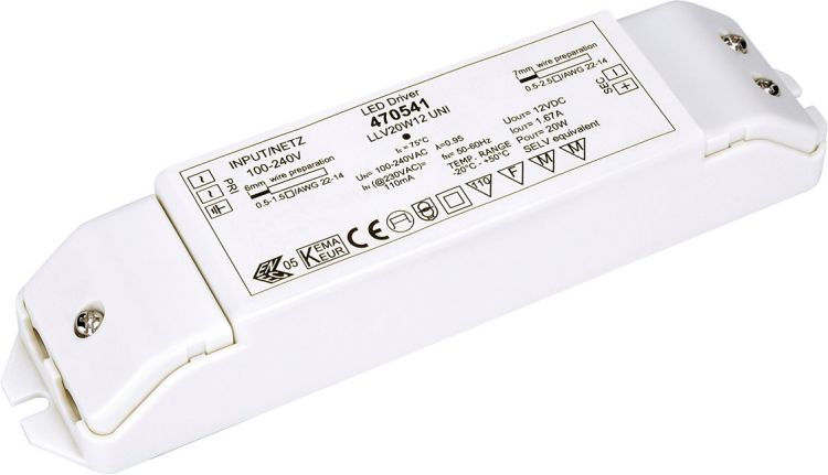 SLV LED-Netzteil, 20W, 12V