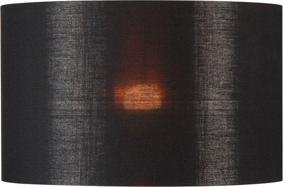 SLV FENDA Leuchtenschirm, rund, schwarz/kupfer, Ø/H 45,5/28 cm