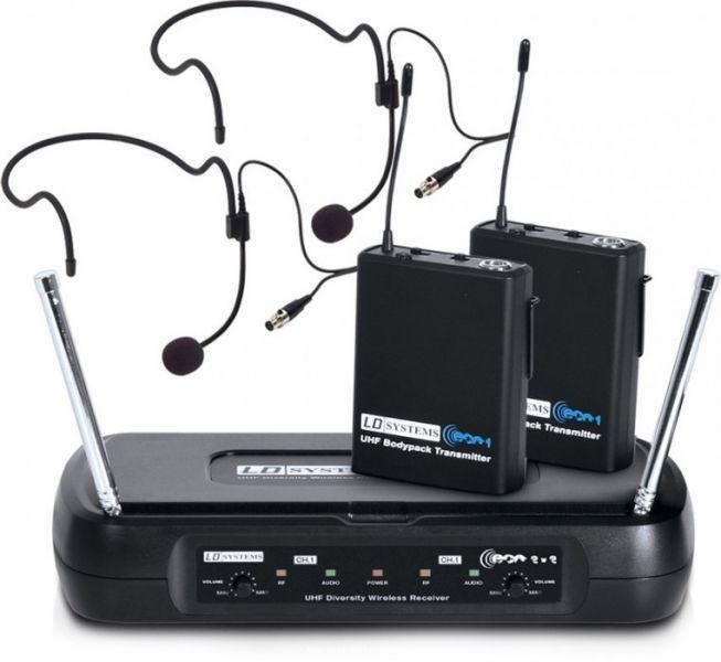 AlphaPlan-Artikel: LD Systems ECO 2X2 BPH 2 Funkmikrofon System mit 2 x Belt Pack und 2 x Hea