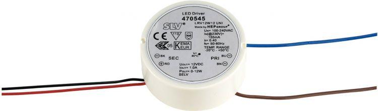 SLV LED-Netzteil, 12W, 12V, für Doseneinbau
