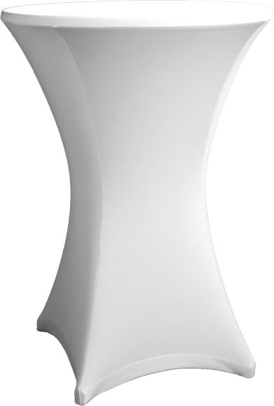 AlphaPlan-Artikel: Stehtisch Husse weiß für 80 - 86 cm Durchmesser Stretch