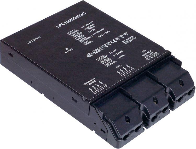SLV LED-Netzteil, 100W, 24V, 3-fach dimmbar über 1-10V