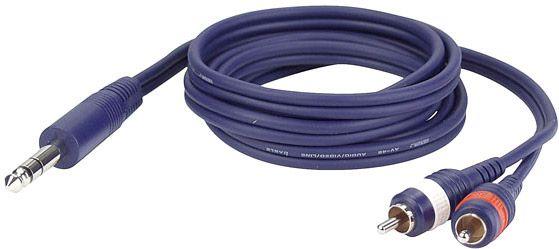 DAP FL35 - Stereo Klinke > 2 RCA Male L/R  6 m