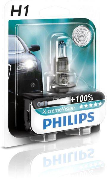 Philips Autolampe H1 X-treme Vision B1 55W 12V P14,5s 12258XVB1