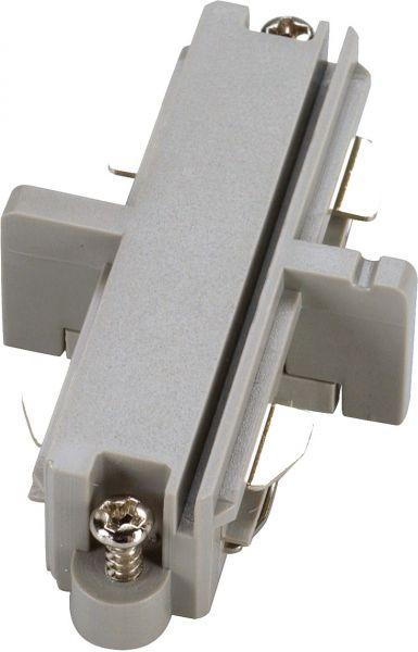 SLV Längsverbinder für 1-Phasen HV-Stromschiene, silbergrau