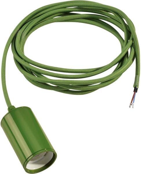 AlphaPlan-Artikel: FITU E27 Pendelleuchte, rund, farngrün, E27, max. 60W, 2.5m Kabel mit offe
