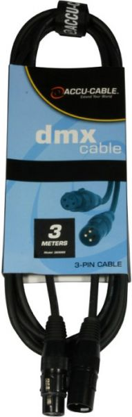 AlphaPlan-Artikel: DMX Kabel 3pin, 3m, 110 Ohm, AC3PDMX10