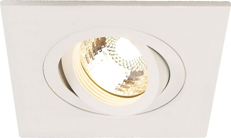 AlphaPlan-Artikel: NEW TRIA XL SQUARE GU10 Downlight, mattweiss, max. 50W, inkl. Clipfedern