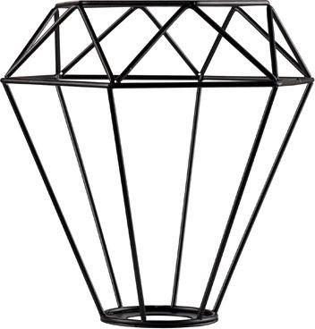 SLV FENDA Leuchtenschirm, Gitterschirm, mattschwarz