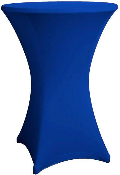 Stehtisch Husse royalblau für 80-86 cm Durchmesser Stretch