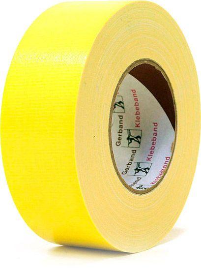 AlphaPlan-Artikel: Gaffer Tape Gerband 250 gelb Topqualität
