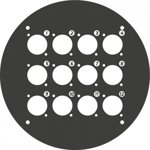 Adam Hall Cables 70225 D 12 Frontplatte für Kabeltrommel 70225 mit 12 x D-