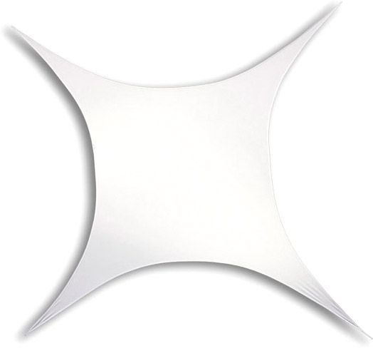 Stretch Shape Square 250cm x 250cm - White