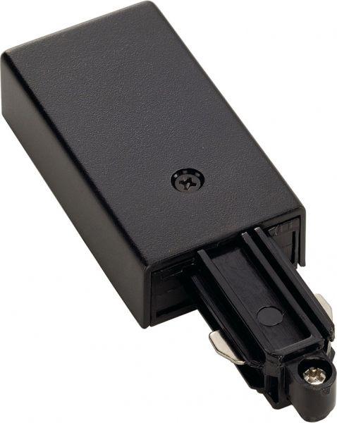 Einspeiser für 1-Phasen HV-Stromschiene, Aufbauversion schwarz, Erde recht