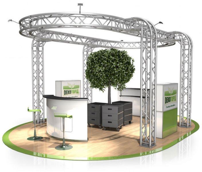 Messestand FD 34 - 6 x 4,5 x 3 m (LxBxH) - 27 m²