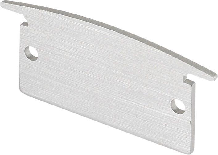 SLV ENDKAPPEN für GLENOS Linear-Einbau-Profil 3314, alu. eloxiert, 2x