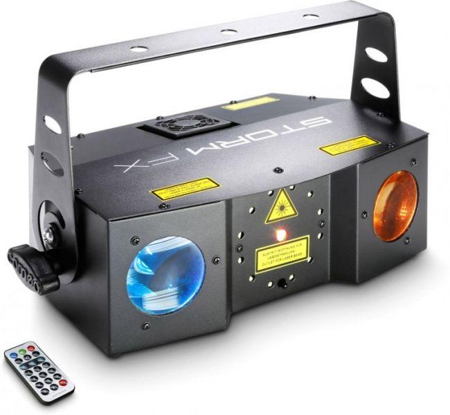 Cameo STORM FX 3-in-1 Lichteffekt mit Grating-Laser, Strobe und Derby-Effe