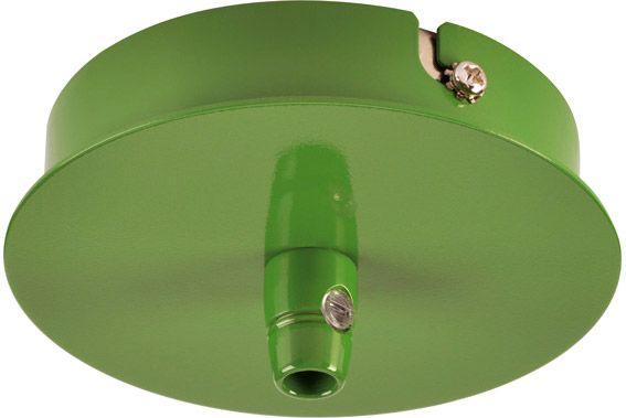 SLV Deckenrosette, 1 Ausgang, rund, farngrün, inkl. Zugentlastung