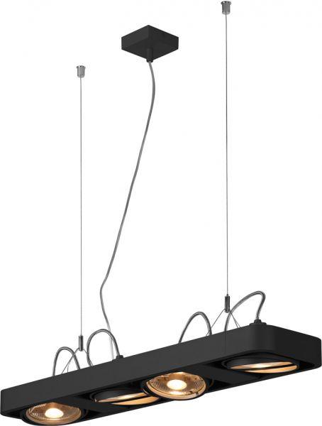 SLV AIXLIGHT R2 LONG Pendelleuchte, QR111, schwarz, 2x75W max.
