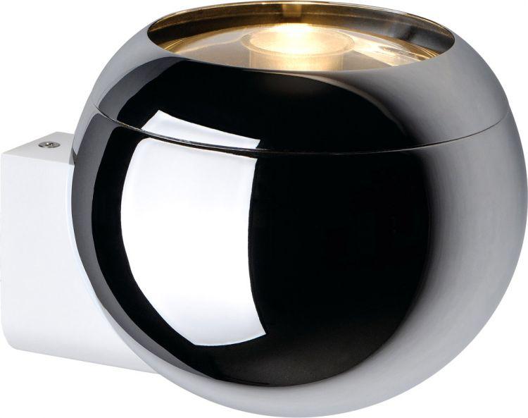 AlphaPlan-Artikel: SLV LIGHT EYE BALL Wandleuchte, chrom/weiß