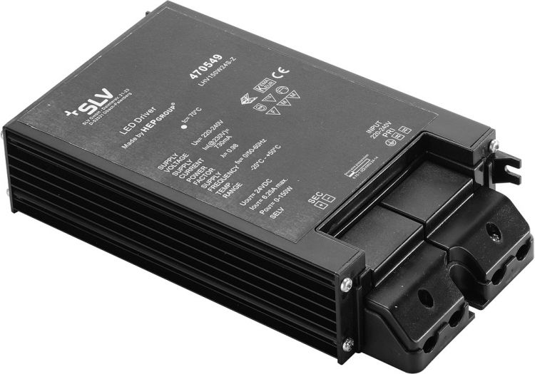 SLV LED-NETZTEIL 150W, 24V, inkl. Kabelverschraubung