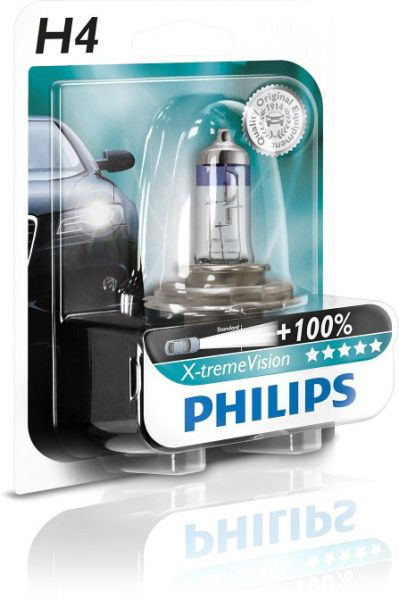 Philips Autolampe H4 X-treme Vision B1 60/55W 12V P43t-38 12342X