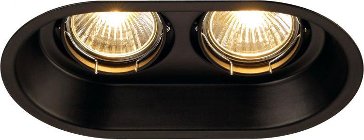 AlphaPlan-Artikel: SLV HORN 2 TURNO GU10 Decken- einbauleuchte, oval, mattschwarz, max. 2x50W