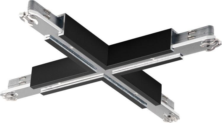 SLV X-VERBINDER für D-TRACK Hochvolt-Stromschiene 2Phasen, schwarz