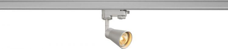 SLV AVO Spot für 3Phasen Hochvoltschiene, QPAR51, silber, max. 50W,