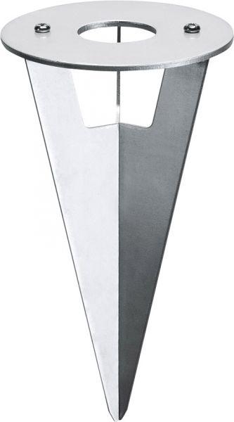SLV ERDSPIESS für HELIA Wege- und Standleuchte, Edelstahl, 17 cm