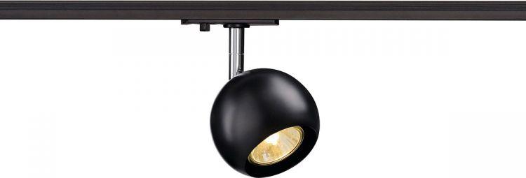 SLV LIGHT EYE GU10 Spot, schwarz/chrom, GU10, max. 50W, inkl. 1P.-Adapter